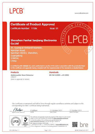 Congratulations - Sanjiang Gets its Newly Issued LPCB Certificates